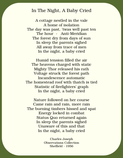 Poem - In the night, a baby cried
